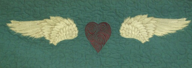 The top border of the quilt