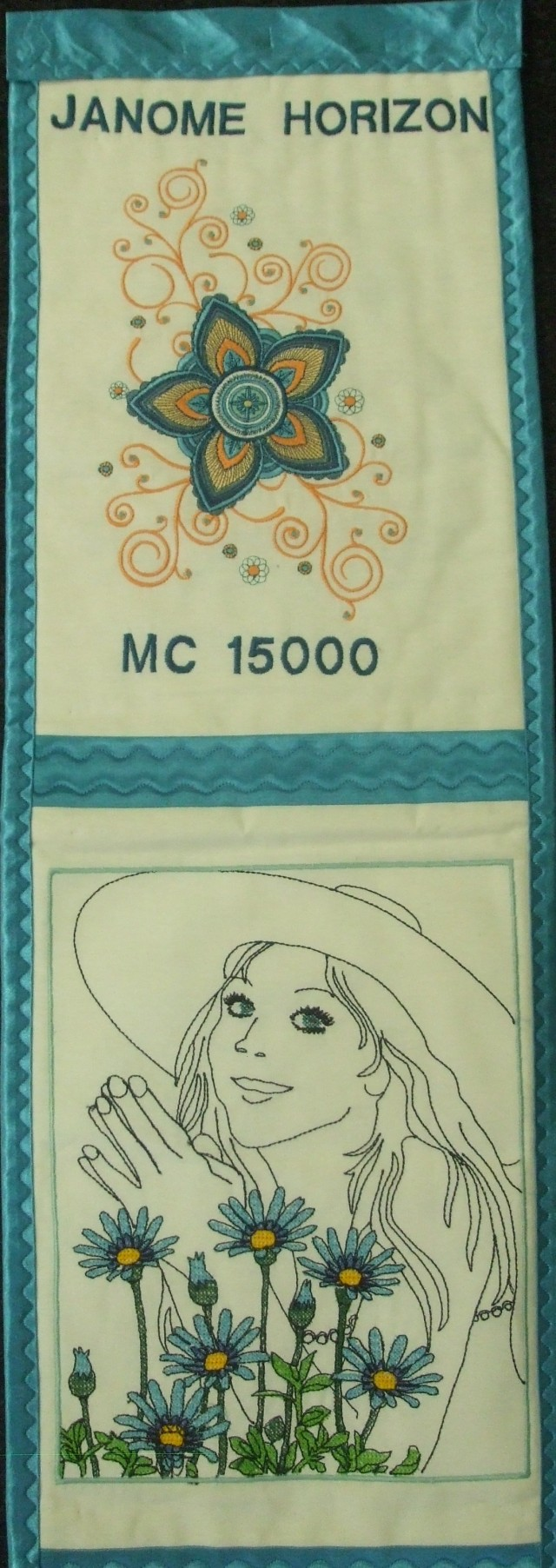 These are more wonderful embroidery designs on our wonderful NEW JANOME MC 15000