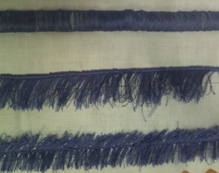 Example of rows of fringe stitching using the above FRINGE foot