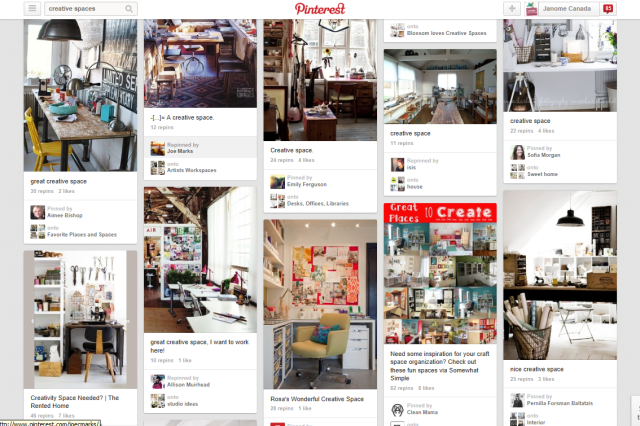 Pinterest Creative Space Search