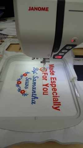 Using Decorative Stitches On Sewing Machine To Make Quilt Labels