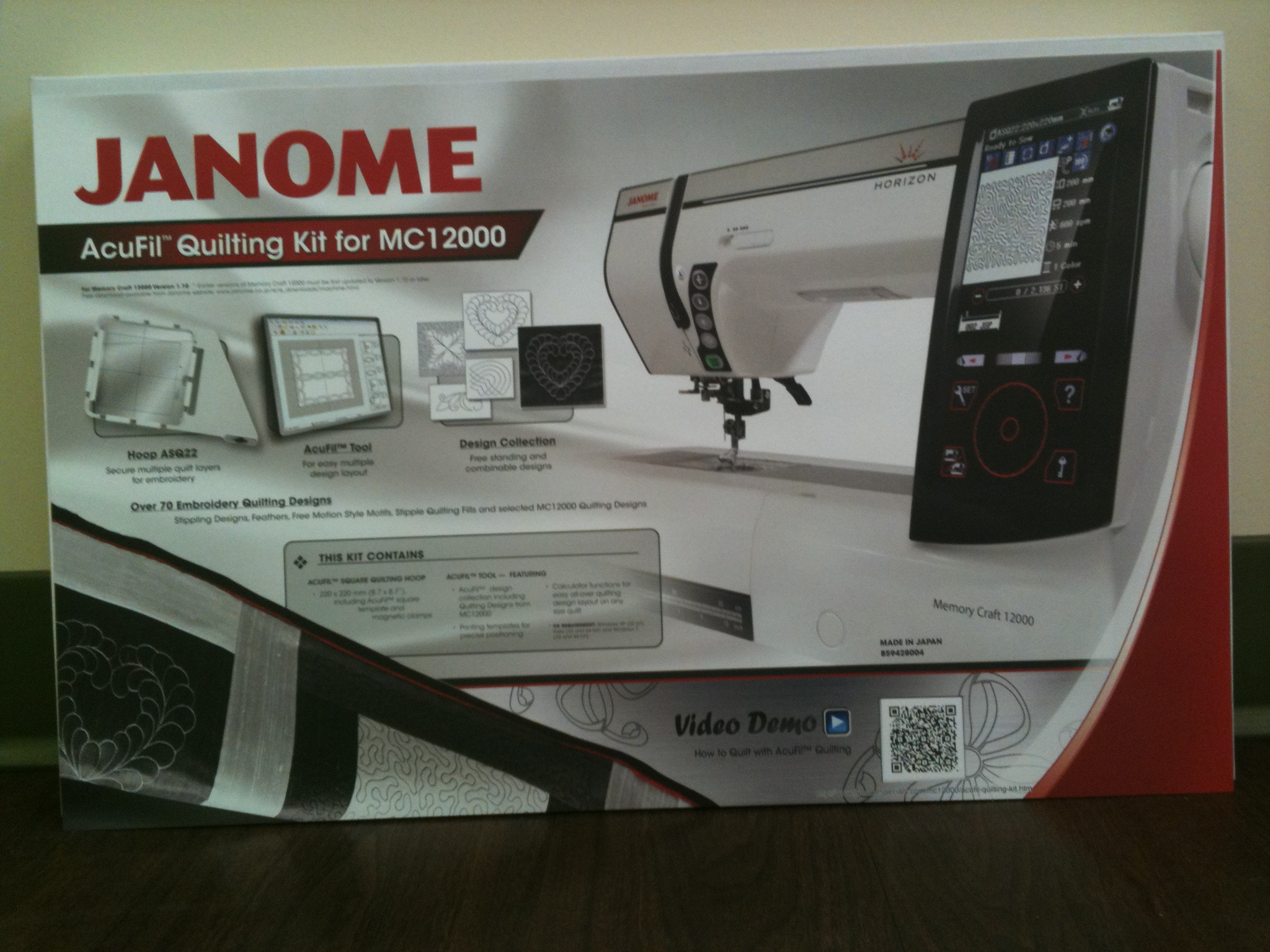 Janome memory craft 12000 - This Is The Acufil Quilting Kit For The Janome Mc 12000
