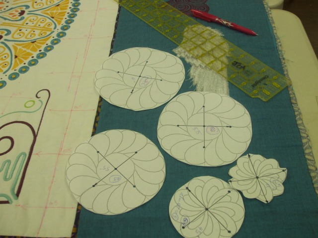 The process of Acufil Quilting taking place...............THIS is the way to go!!
