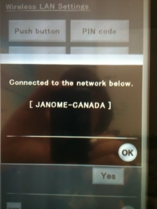 Once you have keyed in your password, it will process to connect & then this message should appear on the screen: touch OK