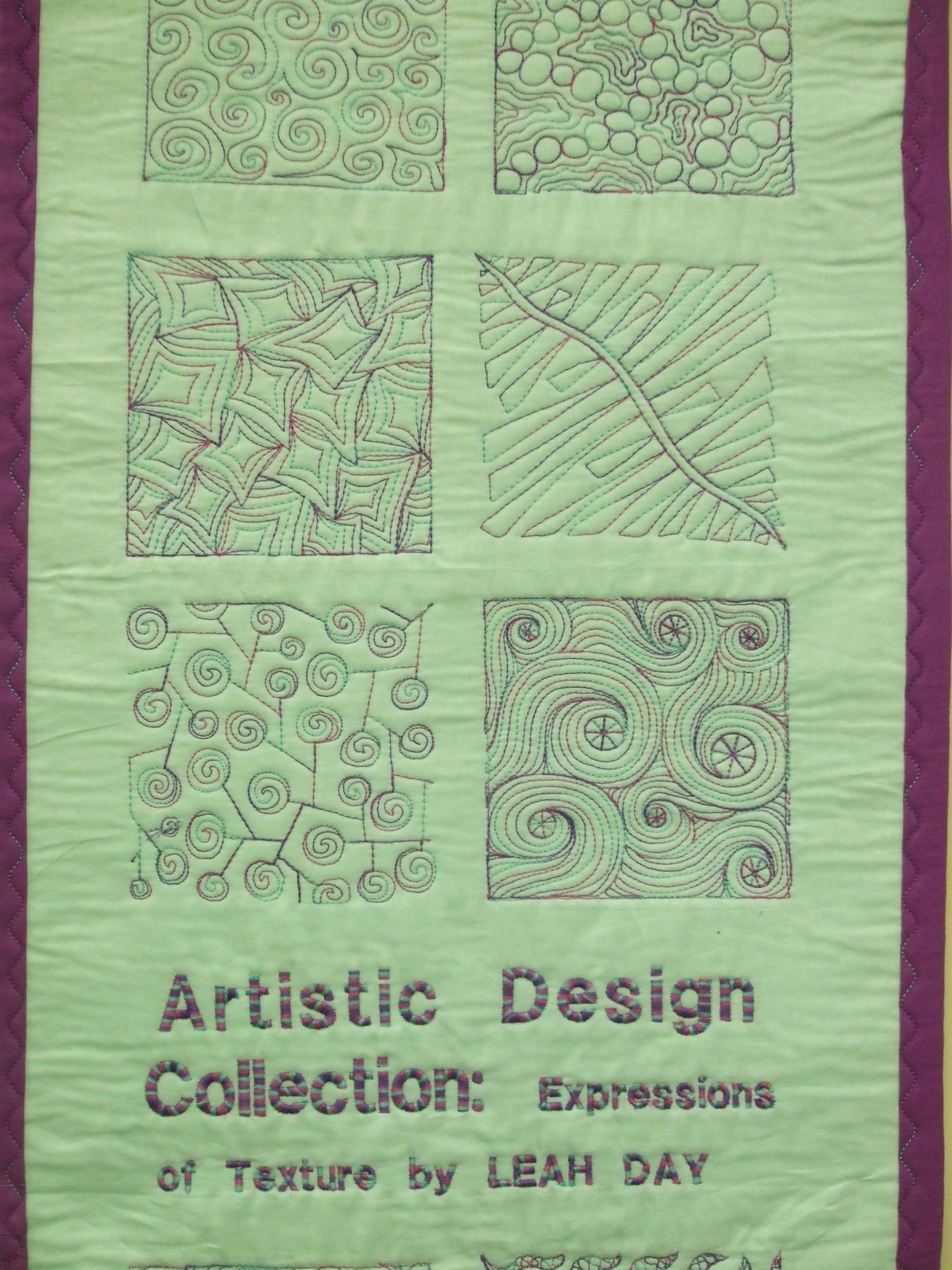 ARTISTIC EMBROIDERY DESIGN COLLECTIONS: EXPRESSIONS OF TEXTURE by LEAH DAY Janome Life