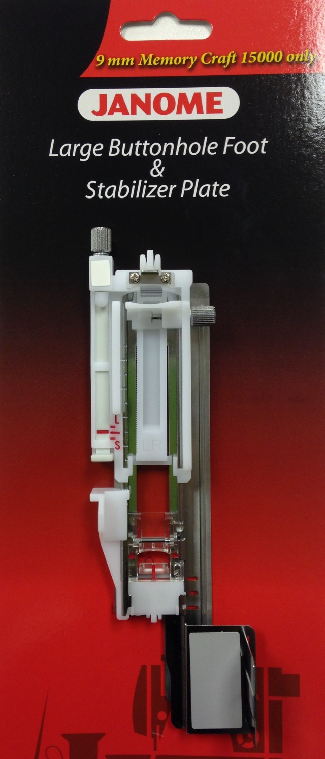 BRAND NEW - THE LONG BUTTONHOLE FOOT FOR JANOME HORIZON MC15000