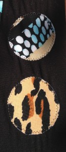 close up of the appliques.