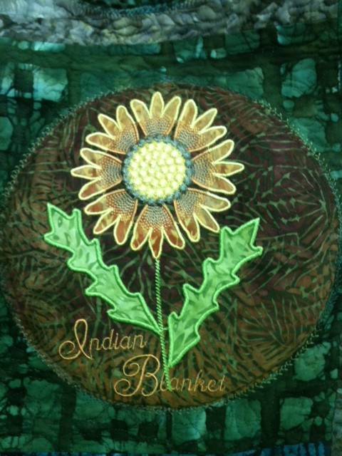 Wild flowers by Smith Street Designs - applique-in-the-hoop or I like to call it applique- the -super-easy-way!