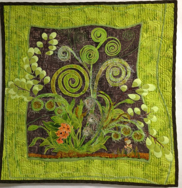 I got this finished a few months back.....and yes, it speaks of spring and the lovely lime green of new growth