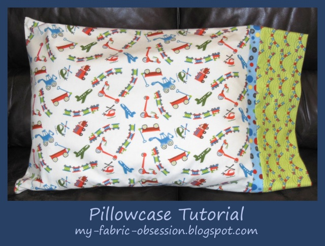 And another completed pillow case - see the blog address for another tutorial