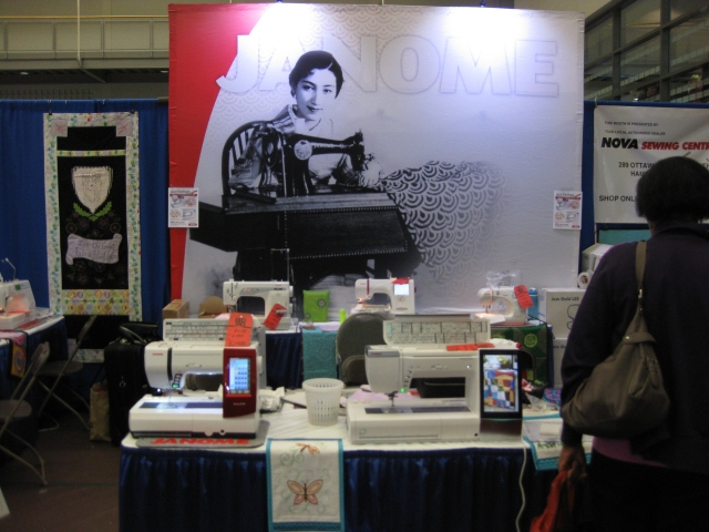 Our Janome booth in the merchant Mall. Our dealer, Sean from Nova Sewing Center in Hamilton was in attendance for all 4 days of the show.