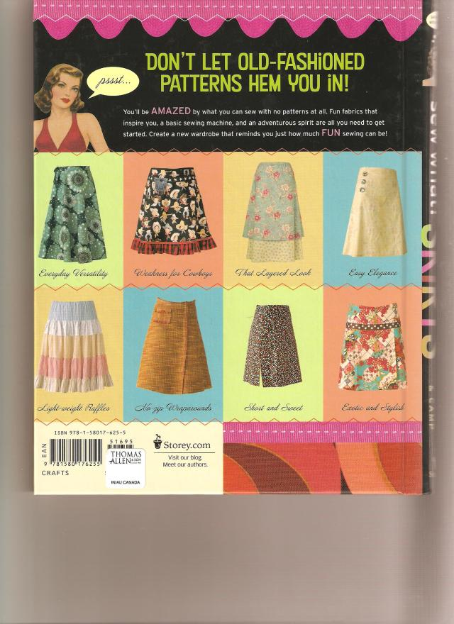back cover showing more skirts you can easily make