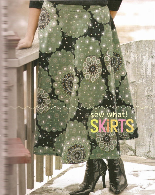 One of the skirts featured in this book.