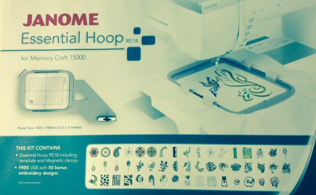 NEW ESSENTIAL HOOP RE18 FOR JANOME MC15000