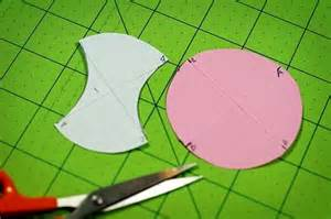 templates may be used to cut the fabric shapes