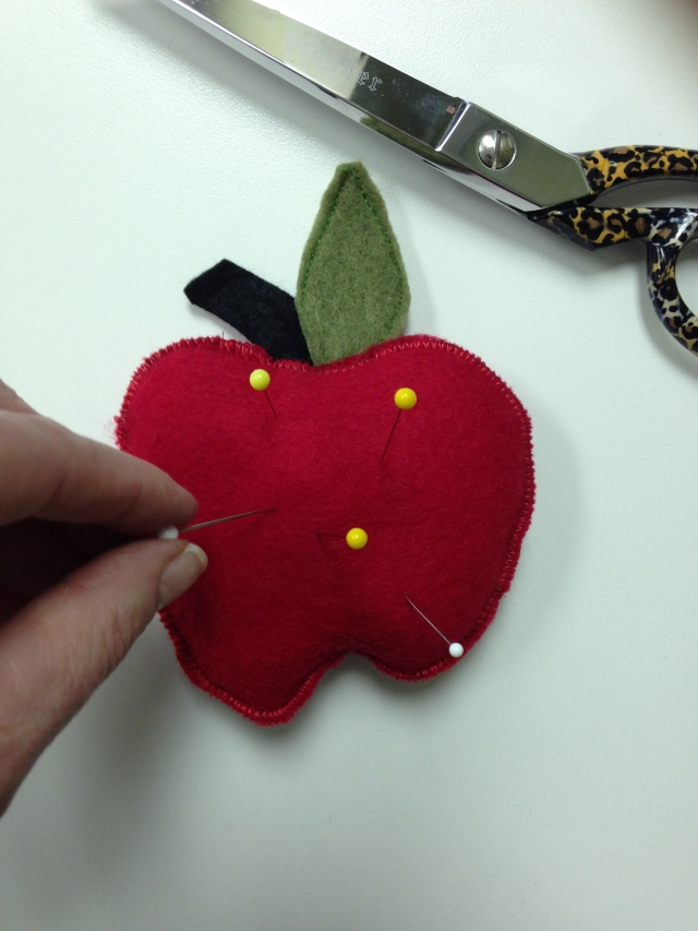 Our apple pincushion which is the 3rd apple-a-day with JANOME!! Was super easy & quick to make.