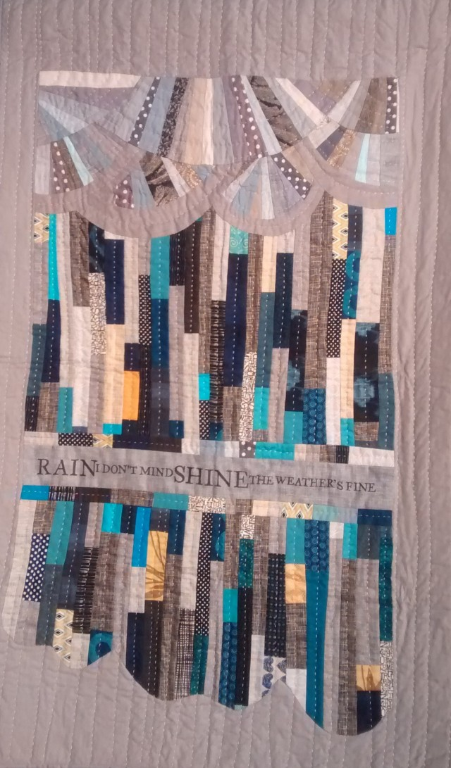 """Cynthia Frenette of Mission, BC is the creator of this quilt entitled """"Rain"""""""
