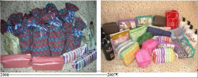 Bags made & donated in 2006 & 2007