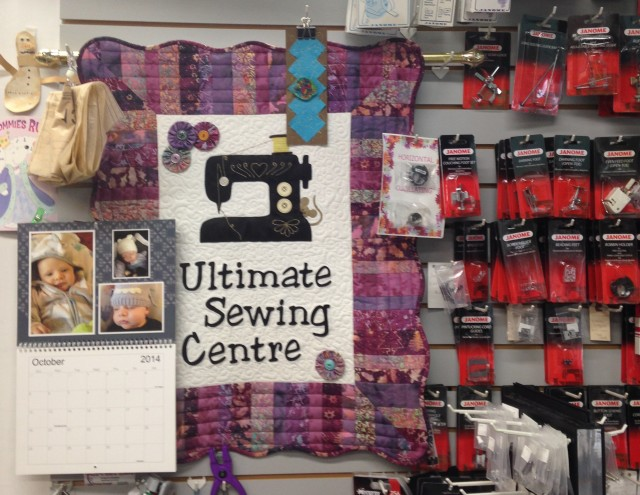 Shirley at Ultimate Sewing Center in Oshawa, Ontario hosted her Master Class and Purple Party at a local hotel. Before I left town the next day, I popped into her store to see all she had to offer....which was a lot!