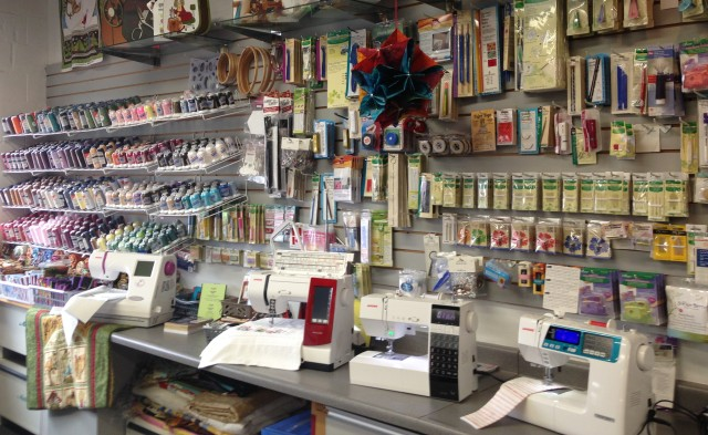 LOTS of expertise and sewing supplies are offering at this Janome store: Ultimate Sewing Center, Oshawa, Ontario