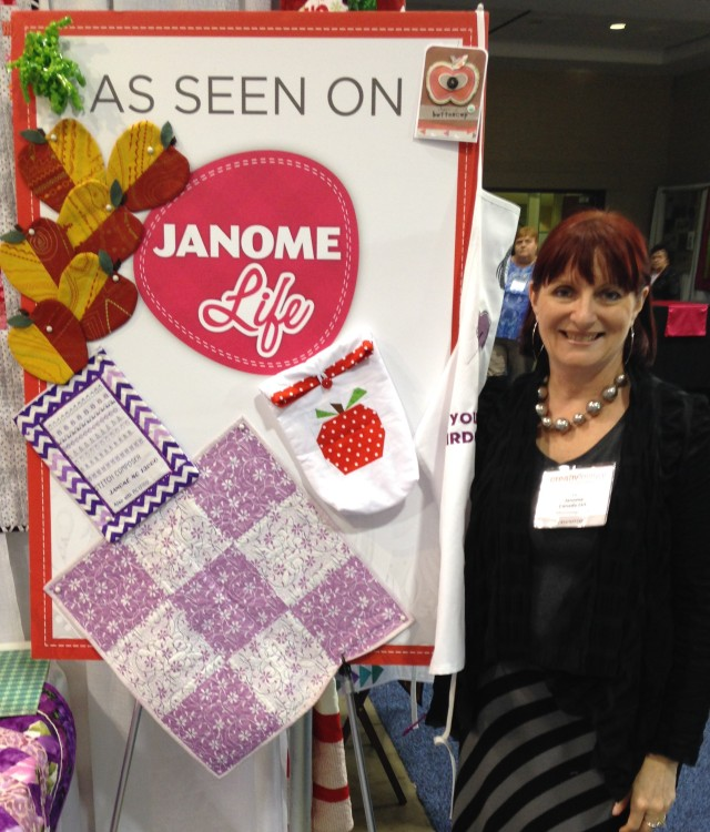 Our janomelife display at the Creativ Festival in Toronto in October