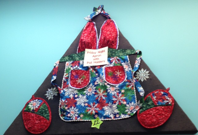 The Friday night apron that raised a lot of hilarity - with matching oven mitts