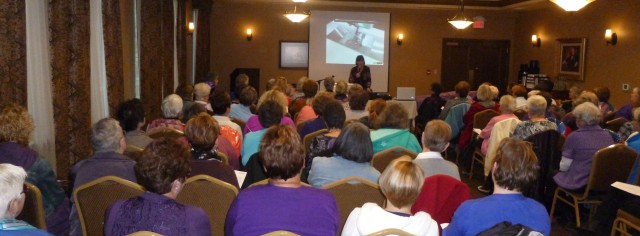 The Purple Party at Stratford, Ontario for Sew & Save Sewing Center: this was the largest one to date with over 80 people attending the event held at The Parlour Inn.