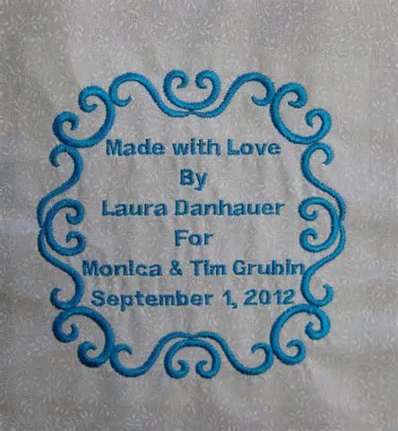 machine embroidery quilt labels