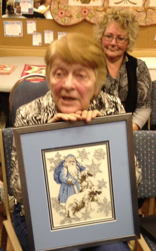 Jackie tells us about her Christmas cross stitch done with her Janome Embroidery machine.
