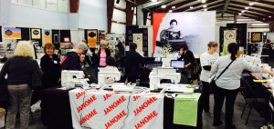 It was a hive of activity in our Janome booth a good deal of the time at this show.