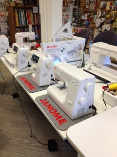Carol proudly sells our Janome sewing machines