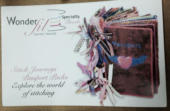 Wonderfil's little Stitch Journey booklet inside the box to help you along the way with using these lovely threads!