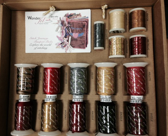 This is the April give-away........thread candy for the sewer. Be sure to enter.
