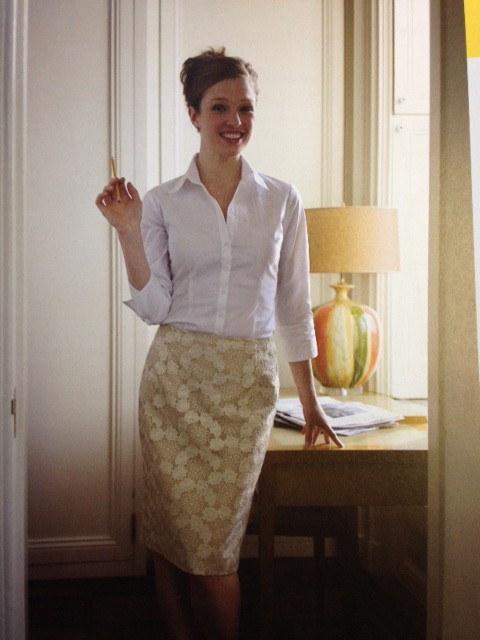 This project also comes with full instructions and pattern - it is the Naughty Secretary skirt!