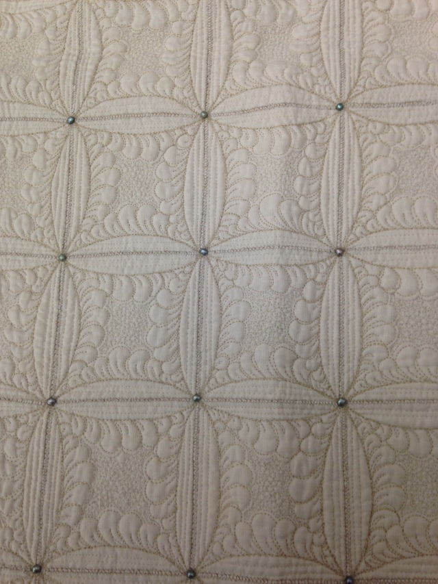 Isn't the trapunto quilting on this one just unbelievable?