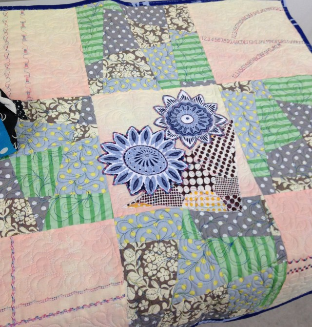 This quilt sample shows off many of the features and feet on our Janome machines