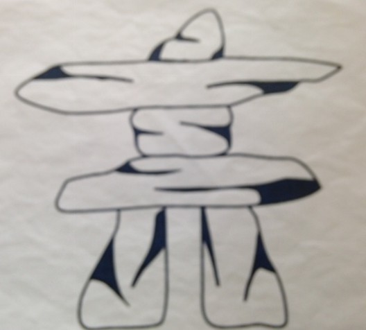 Another online image of an inukshuk which was used as a back drop to create our little Canadian inukshuk stitch! see stitch out below.
