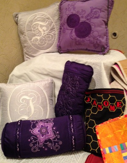 Pillows, pillows, pillows....all stitched on the MC15000