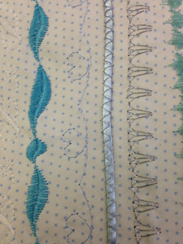 Dec stitches on our Janome  and Elna sewing machines can be used to maximum effect as shown in this pic.