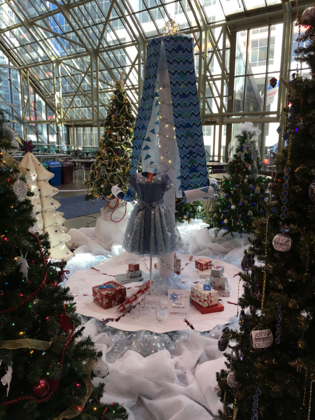 The theme for this year's Fall Creativ was Winter Wonderland. Janome was responsible for the creation and installation of the tall center tree seen in the pic above. Our thanks to Debbie and Linda who designed, made and put it all together.