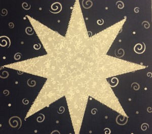 I made these applique stars during a visit to Haus of Stitches early Fall 2015 and Wendy liked them so much she decided to use the concept for her Embroidery Club.