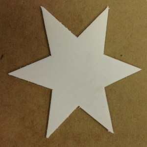 My star stamp ready to press onto my stamp pad to twinkle, twinkle, twinkle.
