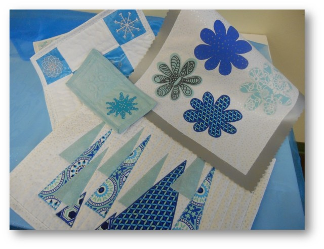 A bunch of different applique projects I completed - ALL using the Artistic Edge to cut the fabric and