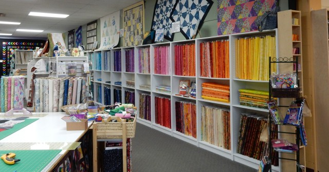 is it any small wonder that my stash grows exponentially......very hard to resist the temptation to add to my collection of fabrics when presented with such lovely store displays!