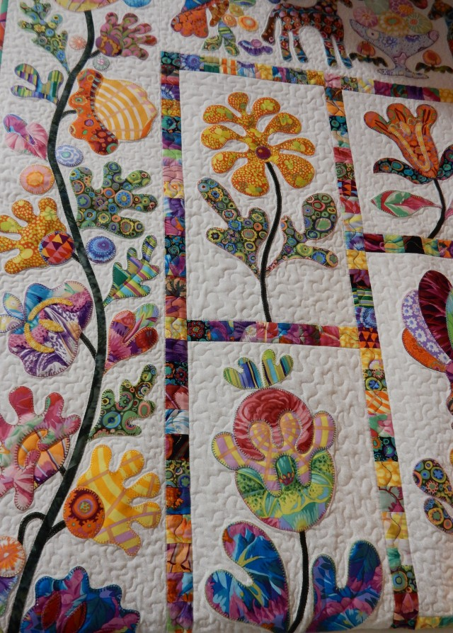 Just one of the magnificent quilts on display.....visiting this store is like going to a Quilt show!