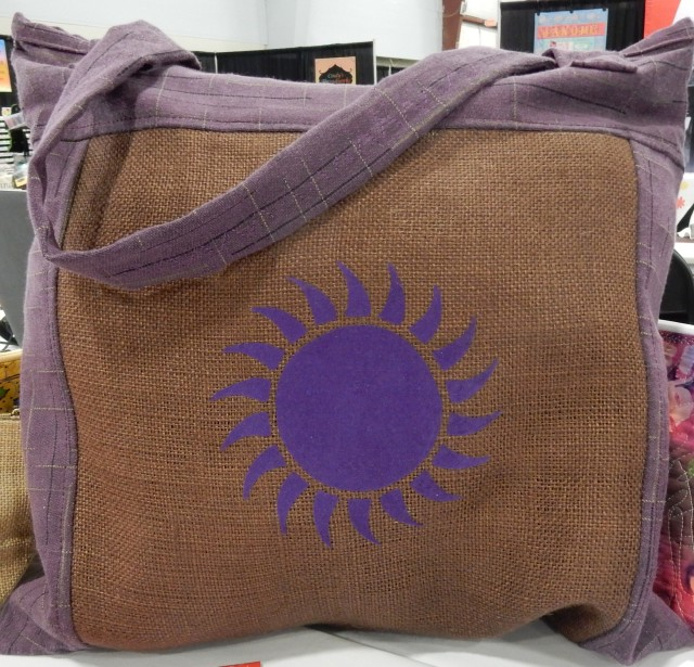 And still more.....this is our burlap tote bag embellished with heat transfer flock vinyl