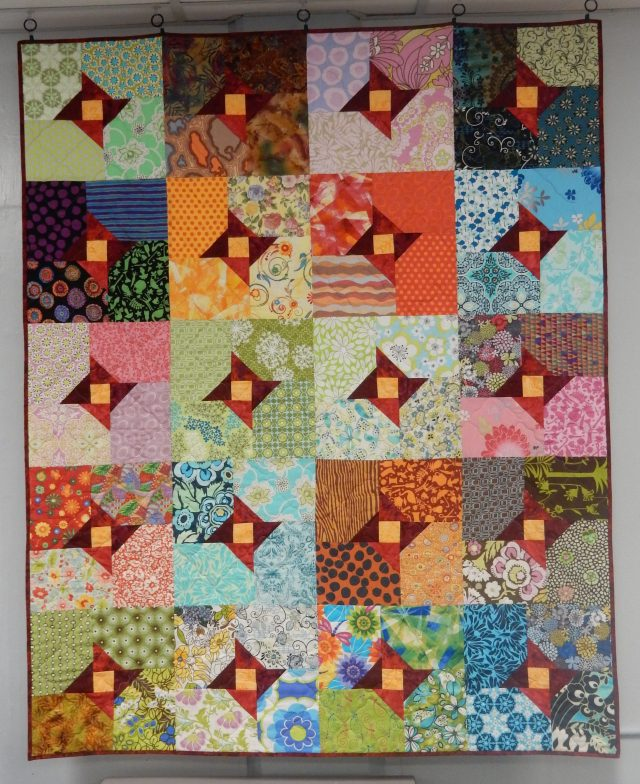 One of the lovely colourful quilts on display at the Conference