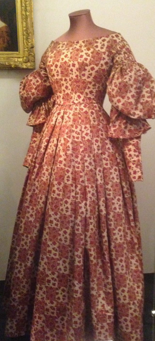 Day dress dated 1835-1838