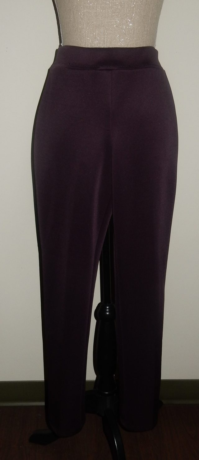 Same Kwik sew pants in a lovely red grape colour