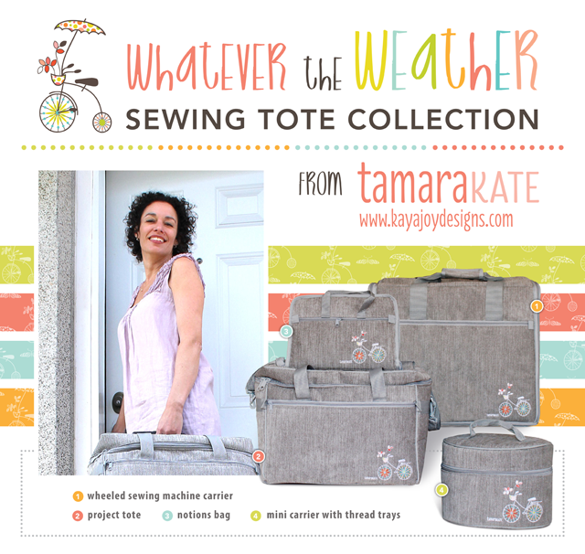 #2 - whatever the weather sewing luggage - tamara kate
